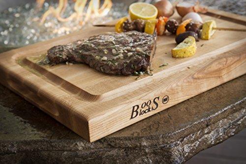 John Boos Block BBQBD Reversible Maple Wood Edge Grain BBQ Cutting Board with Juice Groove, 18 Inches x 12 Inches x 1.5 Inches by John Boos (Image #2)