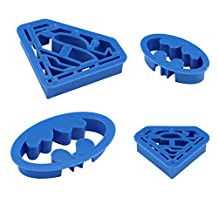Cookie Creations Superman Batman Cookie Fondant Cutter Set (4 pack)