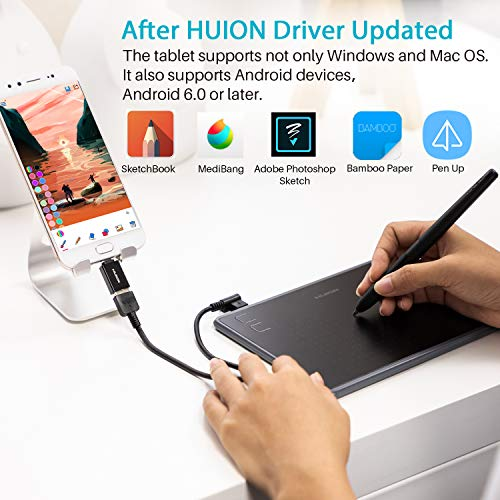 Huion Inspiroy H430P OSU Graphic Drawing Tablet with Battery-Free...
