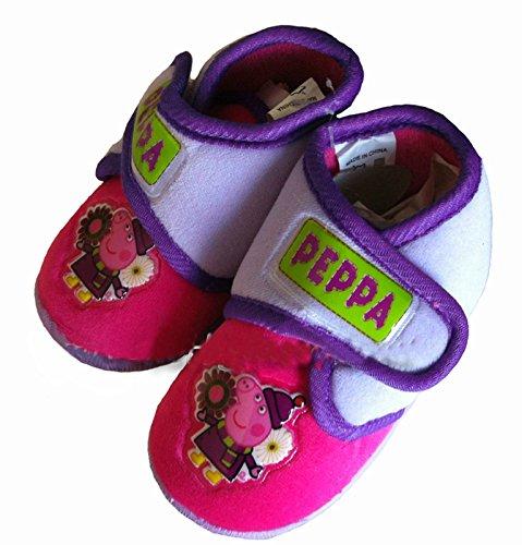 Hausschuhe Slippers Mis. 27Mädchen Peppa Pig Pink/Lila Original