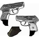 """2 Pack Ruger LCP 380 1.25"""" Extra Long Magazine Mounted Garrison Grip Extension"""