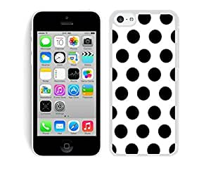Nice Speck Iphone 5c TPU White Case Silicone New Cell Phone White and Black Dot Cover by runtopwell