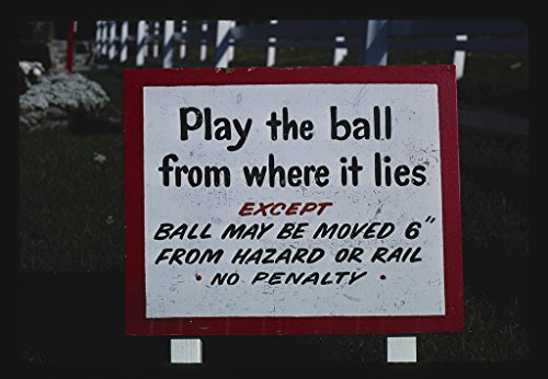 - Vintography 16 x 24 Photo of Play The Ball Sign, Funspot Mini Golf, Route 3, Weirs Beach, New Hampshire 1984 Ready to Frame 57a