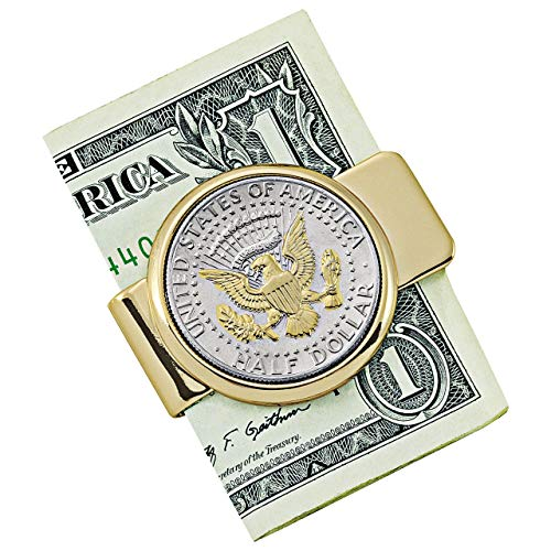 Presidential Seal JFK Half Dollar Goldtone Money Clip
