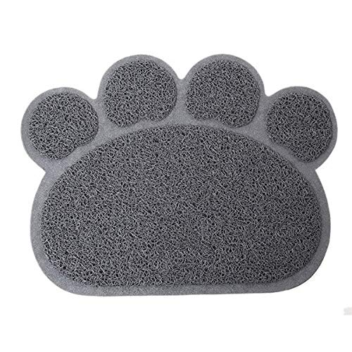 Yichener 1pc 3 Colors Cute Paw Shape Pet Dog Cat Puppy PVC Foot Mat for Dogs Cats Placemat Pet Supplies IC673895