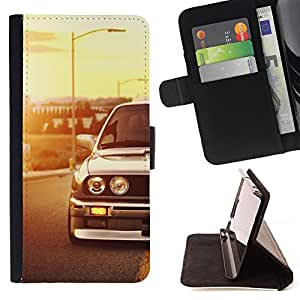 For Samsung Galaxy S6 Edge Plus E30 M3 Racing Car Style PU Leather Case Wallet Flip Stand Flap Closure Cover