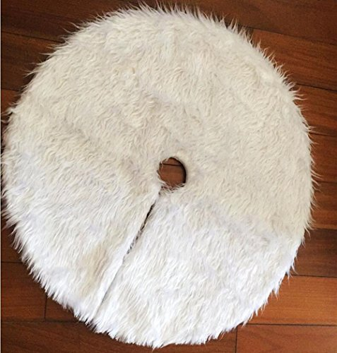 SLZZ Christmas Tree Skirt - Luxury Plush Carpet Christmas Tree Skirt Base Floor Mat Cover - For Xmas Decoration New Year Home Party Supplies by SLZZ (Image #2)