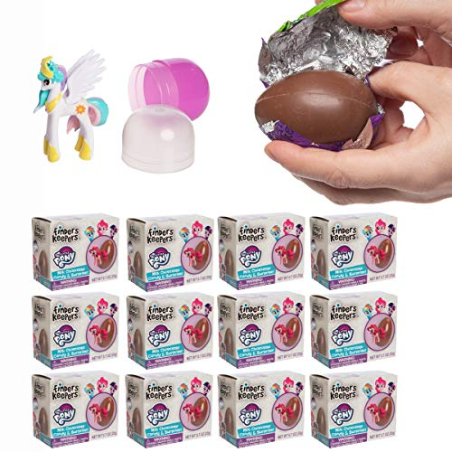 Easter My Little Pony Finders Keepers Chocolate Egg with Surprise Collectible Figurine Included in Box, Pack of 12