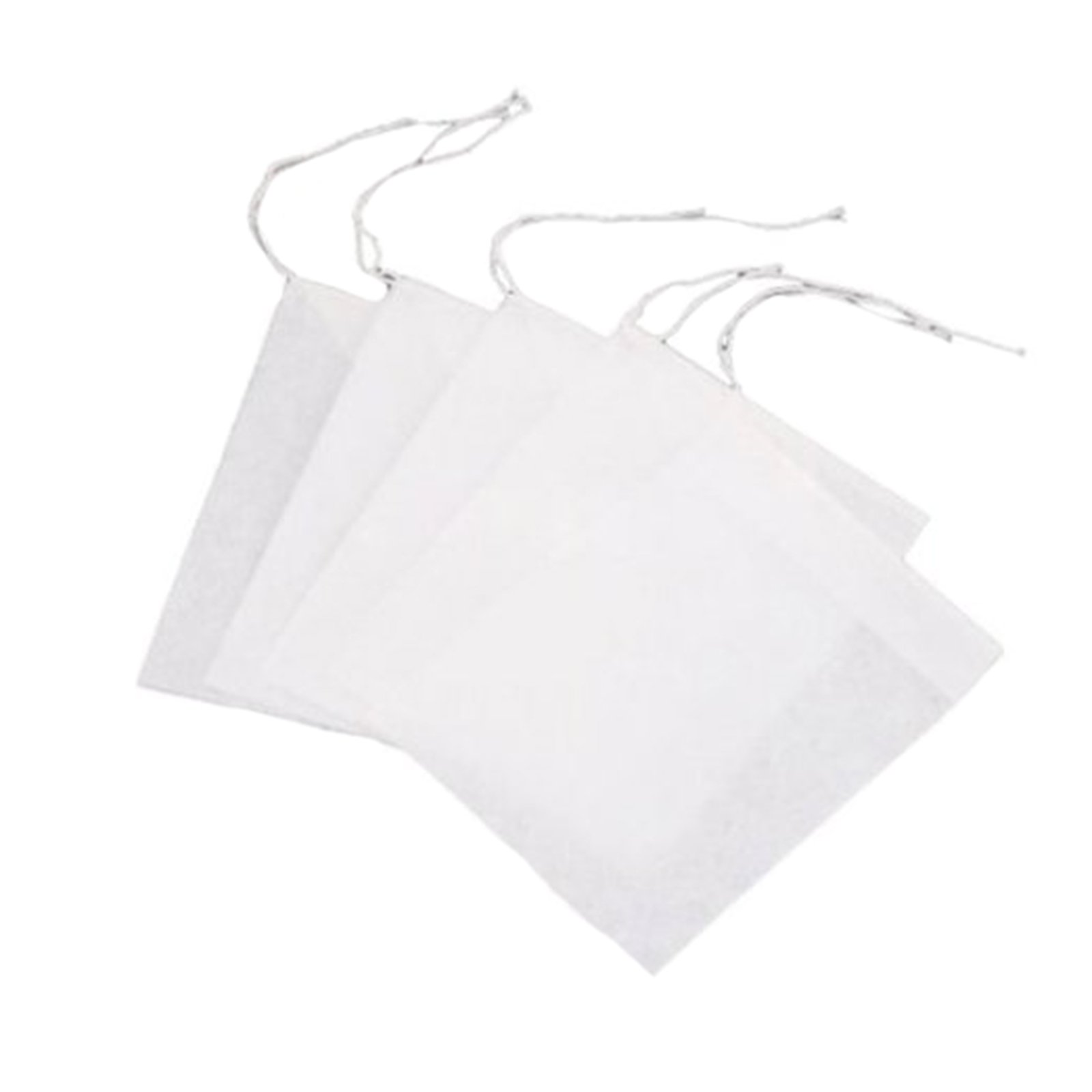 ZSL Tea Filter Bags Safety Pack of 100 Mini Disposable String Drawstring Empty Heat Seal Paper Tea Bags