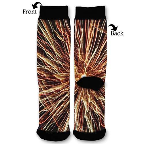 (Lines Light Radiance High Ankle Socks,Men Women All Season Sock,Soft Cotton Breathable Printed Rib Sox)
