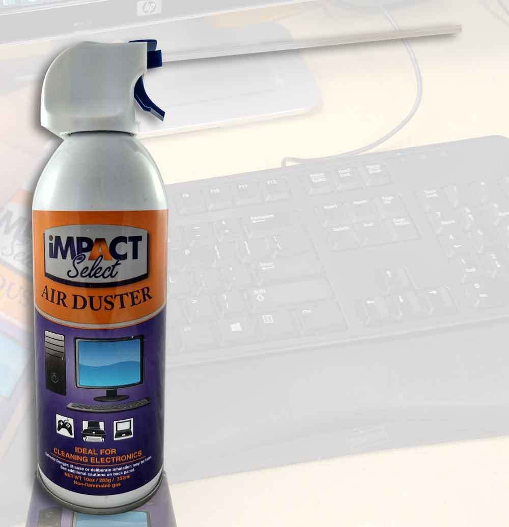 Impact Select Air Duster Compressed Canned Air Keyboard Computer Cleaner Dust Off 10oz Can with Straw (4 Pack) by Impact Canopy (Image #2)