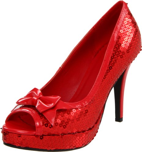 Dorothy Adult Sexy Shoes - Ellie Shoes Women's 420-Dorothy Pump,Red,6 M