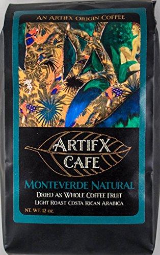 Costa Rica Light Roast - Artifx Cafe Monteverde Natural Costa Rica Coffee - 12 oz, Ground - Nature Friendly - Light Roast