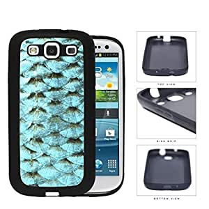 Blue Fish Scales Rubber Rubber Silicone TPU Cell Phone Case Samsung Galaxy S3 SIII I9300