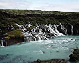 A river and small creeks running into it, Iceland 30x40 photo reprint