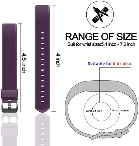 REDGO ID115Plus HR Replacement Band, Fitness Tracker Straps for ID115 Plus HR Bracelet, ID115HR Plus Pedometer, Not for ID115 or ID115HR, Black, Purple 4