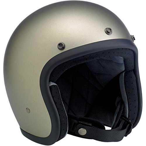 Biltwell Inc. Bonanza Helmet, Distinct Name: Flat Titanium, Gender: Mens/Unisex, Helmet Category: Street, Helmet Type: Open-face Helmets, Primary Color: Silver, Size: XL BH-TIT-FL-DOTXL