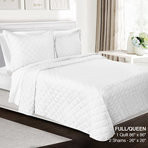 Check Out This 3 Piece Quilt Set Full/Queen Size By Clara Clark - Luxury Bedspread Coverlet Soft All...