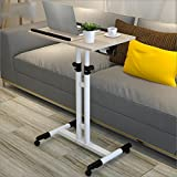 GFL Utility Tables Meeting Room Removable/Elevating / Tabletop Adjustable Laptop Table/Simple Dining Tables Desk Mobile Workstation (Color : Maple color)