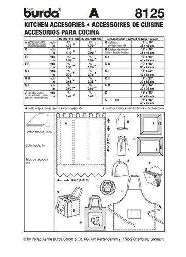 Burda Nähmuster-Buch: Küchenaccessoires /(8125 ...