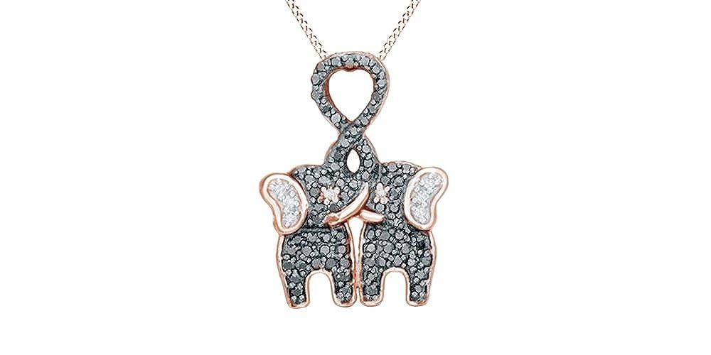 Amazon.com: Blanco y Negro beso de elefantes de diamantes ...
