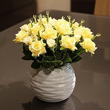 XIN HOME Simulierte künstliche Blume gesetzt Fake Blume Vorhang ...