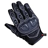 New Men's Summer Motorcycle Mesh and Leather Street Cruiser Biker Gloves M