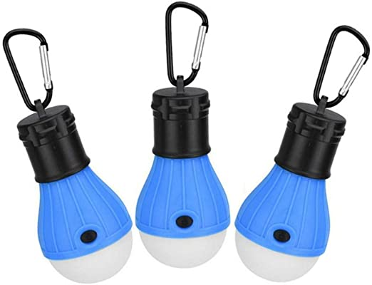 3 Pack LED Camping Lamp Tent Lights, Waterproof Portable Bulb, Battery Powered for Hurricane Emergency,Home, Fishing, Camping, Hiking,Backpacking and