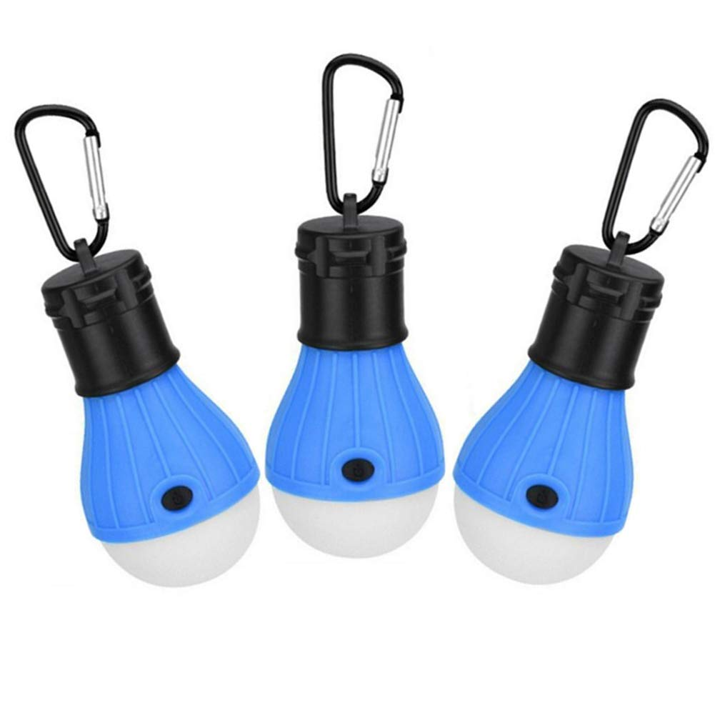 hogar camping port/átil Paquete de 3 luces LED para tienda de campa/ña senderismo actividades en interiores y exteriores para emergencias de hurac/án impermeable funciona con pilas pesca