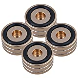 Mxfans 4xGold Aluminum Alloy 40x22mm Amplifier Speaker Isolation Feet Pad Stand