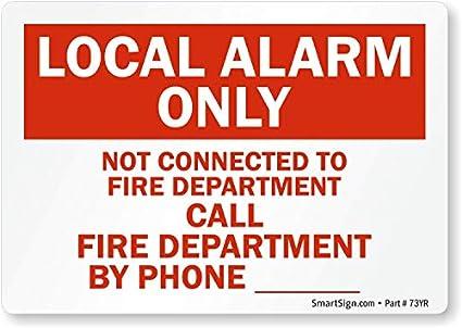 Amazon.com: Local alarma no solo conectado al fuego ...