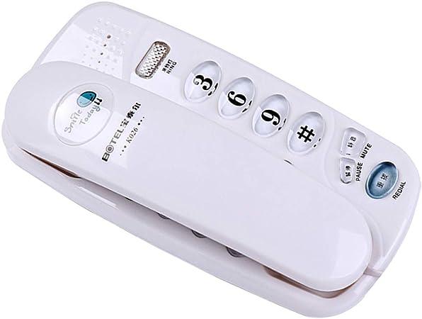 Teléfono Pared - Teléfono con Cable, Diseño De Luz De Llamada, Teléfono Fijo con Botones Grandes De Cristal: Amazon.es: Hogar