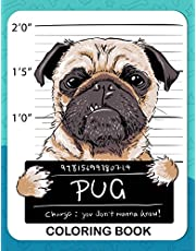 Pug Coloring Book: A Dog Fun and Beautiful Pages for Stress Relieving Unique Design