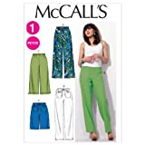 McCall's Easy Pattern 6568 Misses and Petite Loose Fitting Shorts and Pants Size L-XL 16-18-20-22-24-26