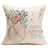 Decorative Pillow Cover - Gotd Multicolor Pillow Flower Letters Series Pillow Christmas Decorations Decor Square Linen Blend Christmas Pillow Case Sofa Waist Throw Pillow Cushion Cover (Style 2)