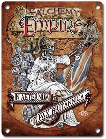 Siciny Alchemy Empire Aeternum Pax Britannica - Póster de Robot de Vapor para decoración de Pared de