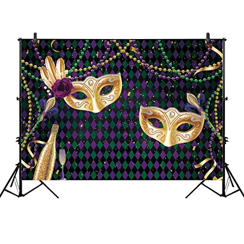 Allenjoy 8x6ft Fabric Mardi Gras Party Backdrop Photography