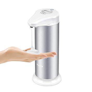 Vanja Dispensador de jabón espumoso Automático, sin Contacto Sensor de Movimiento por Infrarrojos Líquido Auto Dispensador de jabón para Manos para baño de ...