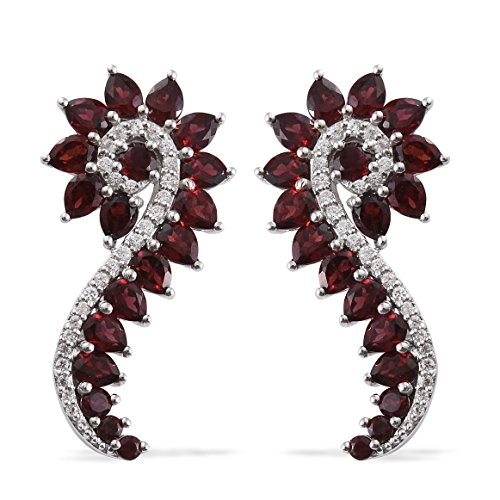 t Zircon Platinum Plated 925 Sterling Silver ear climber gift earrings 57 Cttw ()