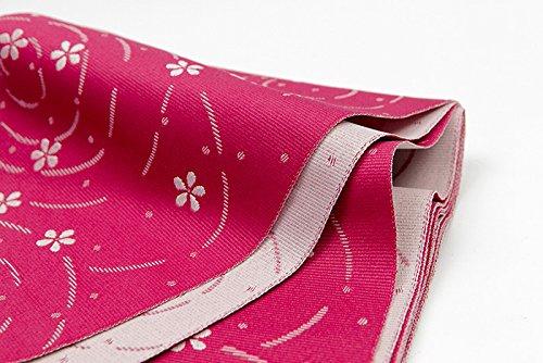 Japanese Kimono HANHABA YUKATA OBI Reversible PINK SAKURA CHREE MADE IN JAPAN (Reversible Obi)