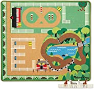 Melissa & Doug Round the Ranch Horse Activity Rug With 4 Play Horses and Folding F