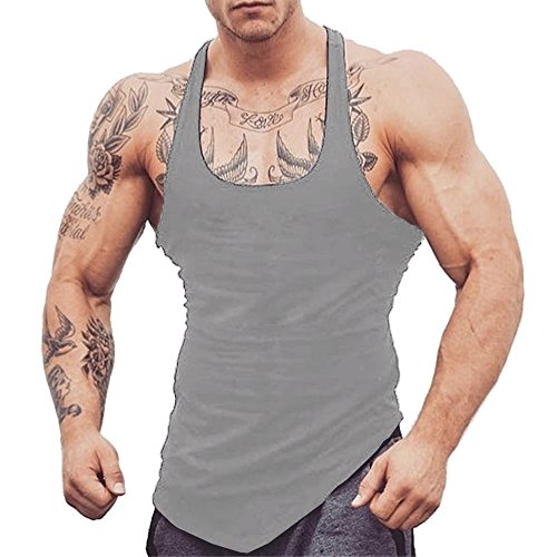 c7ea84cebf5fed COOFANDY Men s Workout Tank Tops Bodybuilding Stringers Fitness Muscle Tee  Cut Off Gym Shirts