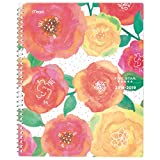 Five Star 2018-2019 Academic Year Weekly & Monthly Planner, Large, 8-1/2 x 11-1/2, In Bloom, Floral Design (CAW557D2)