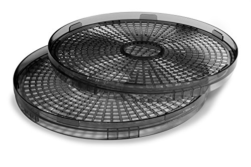 Salton DH1000TR BPA Free Collapsible Trays For Food Dehydrator, 2 Pack, Black