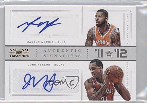 John Henson; Marcus Morris #11/25 (Basketball Card) 2012-13 Panini National Treasures - '11 vs '12 Signatures - Gold [Autographed] #14