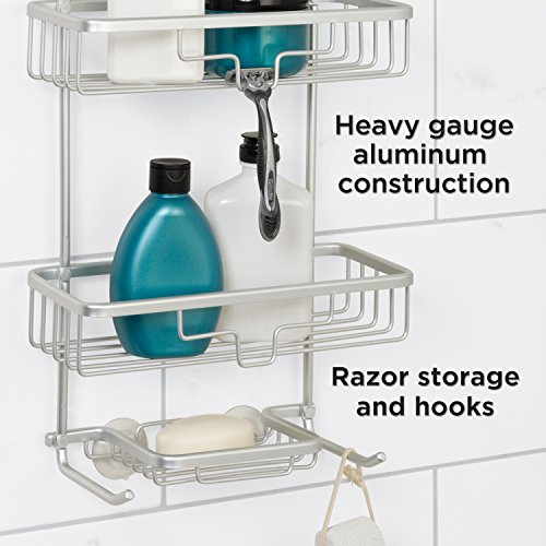 Zenna Home 7402AL, NeverRust Aluminum Shower Caddy, Satin Chrome ...