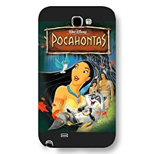 Customized Black Frosted Disney Princess Pocahontas Samsung Galaxy Note 2 Case