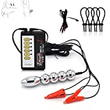 Medical Themed Toy Electric Shock 170g Metal Ball Anal Butt Plug&Powerful Nipple Clamps/Clip Adult Games BDSM Sex Toy