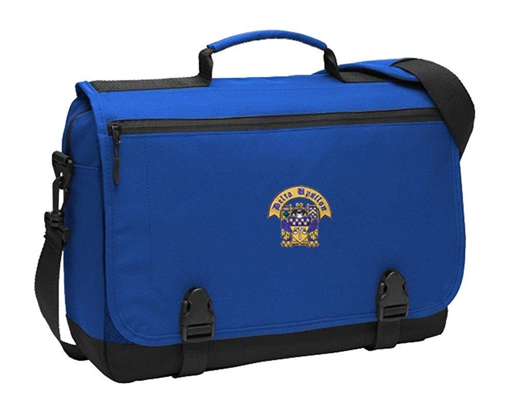 Greekgear Delta Upsilon DU Messenger Briefcase Blue