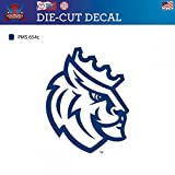 Queens University of Charlotte Royals Die-Cut Vinyl Decal Logo 2 (Approx 6x6)